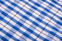Rutig blå bakgrund för trasa arkivfoto