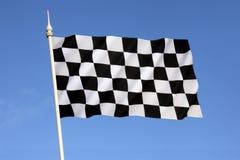 Rutig flagga - seger - segra Arkivbilder