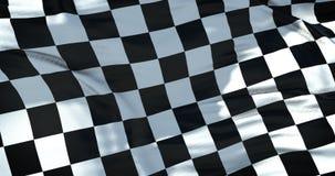 Rutig flagga, slutloppbakgrund, verklig rörelse, konkurrens för formel en lager videofilmer