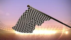 Rutig flagga som vinkar i arena vektor illustrationer