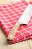 rutig knivservett arkivfoto