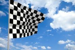 rutig molnig våg för flaggaframdelsky Arkivbild