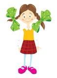 rutig skirt för flicka little Royaltyfri Foto