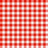 rutig tablecloth Fotografering för Bildbyråer