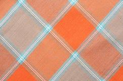 rutig tablecloth för bakgrund Arkivfoto