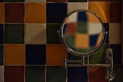 Rutig vägg för färg Arkivfoto