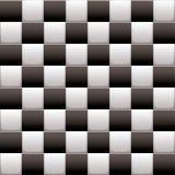 Rutig white för black n Royaltyfri Fotografi