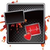 rutiga hjärtslagsilverflikar vektor illustrationer