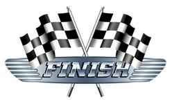 Rutiga rutigt, bilar flaggor den tävlings- sporten, fullföljande vektor illustrationer
