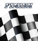 Rutigt FULLFÖLJANDE, motoriska tävlings- sportar för rutiga flaggor vektor illustrationer