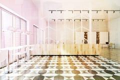 Rutigt tonat golvkontor Arkivbilder