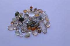 Rutilated石英分类了与罕见的包括的颜色 库存照片
