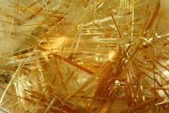 Rutilated Quartz Crystal Stock Photo