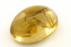 Rutilated quartz. Detail of a brazilian golden rutilated quartz Stock Images
