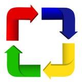 Réutilisez le signe de flèches Images stock