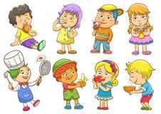 Rutinas de las actividades del niño libre illustration