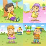 Rutinas de las actividades del niño Foto de archivo libre de regalías