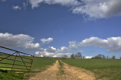 Rutland Farm Track. A farm track in Rutland, UK, on a sunny afternoon Royalty Free Stock Photography
