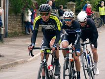 2019 Rutland-Melton Cicle Classic: Wim Kleiman of Team Monkey Town leads a three-man breakaway. The Rutland-Melton Cicle Classic is a professional one day royalty free stock images