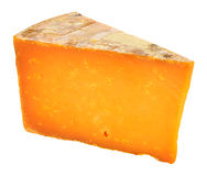 Rutland Red Cheese Wedge. Isolated on a white background royalty free stock photos