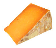 Rutland Red Cheese Wedge. Isolated on a white background stock images