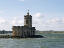 The iconic Normanton Church, Rutland Water royalty free stock photography