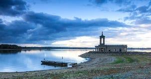 Rutland Water. Normanton church on Rutland Water stock photography