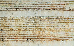 Ruts on a wall. Horizontal ruts on a wall Royalty Free Stock Photos