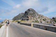 Rutt för Sa Calobra, Majorca Fotografering för Bildbyråer