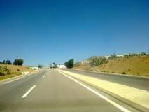 Rutt i torrt land, Nord Marocko Royaltyfri Foto