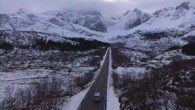 Rutt på de Lofoten öarna arkivfilmer