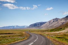 Rutt 1 Ring Road Eastern Iceland Scandinavia royaltyfri bild