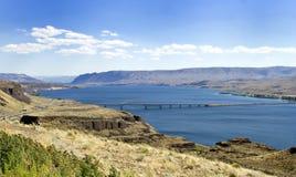 Columbia River korsning Arkivfoto
