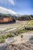 Rutt 13 till Iruya i det Salta landskapet, Argentina Royaltyfri Foto