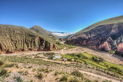 Rutt 13 till Iruya i det Salta landskapet, Argentina Royaltyfria Foton