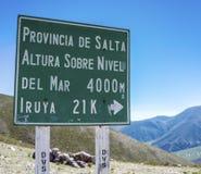 Rutt 13 till Iruya i det Salta landskapet, Argentina Fotografering för Bildbyråer