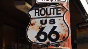 Rutt 66 undertecknar US Arkivfoto