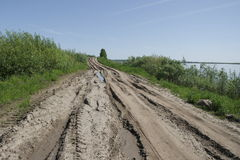 Rutted village road Royalty Free Stock Photo