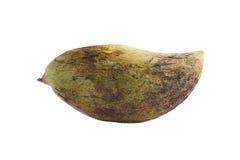 Rutten mangofrukt på vit bakgrund arkivfoto