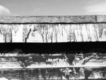 Rutten wood modell för brutna stall Arkivfoto