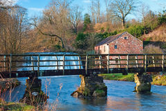 Rutter Force Foot Bridge Royalty Free Stock Image