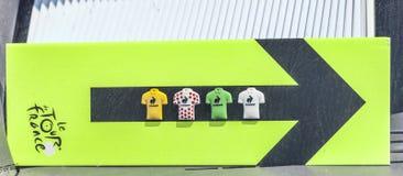Ruttindikator av Le-Tour de France Arkivbild