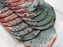 ruttna skivor för meat Royaltyfri Fotografi