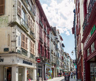 Ruty de Espagne ulica Bayonne Aquitaine, Francja Zdjęcia Royalty Free