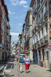 Ruty de Espagne ulica Bayonne Aquitaine, Francja Obraz Royalty Free
