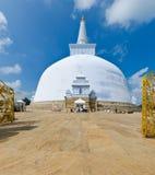 Ruvanmali Maha Stupa Anuradhapura. Ruwanwelisaya Chedi in the sacred city of Anuradhapura, Sri Lanka, 12.06 2011 Royalty Free Stock Photo