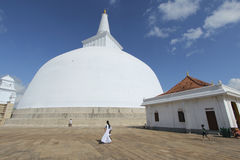 Ruvanvelisaya Dagoba σε Anuradhapura Σρι Λάνκα, το Μάρτιο του 2015 Στοκ Εικόνες
