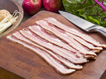 Ruw bacon Royalty-vrije Stock Foto's