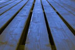 Ruw blauw geelachtig bruinachtig van het indigo houten stadium verstand als achtergrond Stock Foto