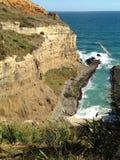 Ruw Cliff Top Beach Stock Afbeeldingen